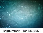 3d render of dna structure ... | Shutterstock . vector #1054838837
