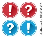 exclamation point and question...   Shutterstock .eps vector #1054851557