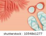 summer background in pastel... | Shutterstock .eps vector #1054861277