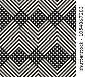 vector geometric lines pattern. ... | Shutterstock .eps vector #1054867283