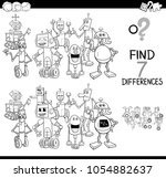 black and white cartoon... | Shutterstock .eps vector #1054882637