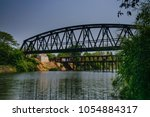 steel bridge on the river steel ...