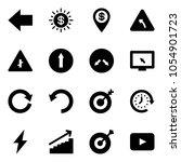 solid vector icon set   left... | Shutterstock .eps vector #1054901723