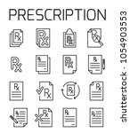 prescription related vector... | Shutterstock .eps vector #1054903553