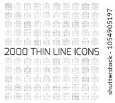 exclusive 2000 thin line icons... | Shutterstock .eps vector #1054905197