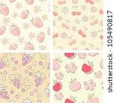 set of retro hand drawn fruit... | Shutterstock .eps vector #105490817