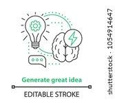 generating idea concept icon.... | Shutterstock .eps vector #1054914647
