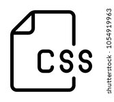 css file  vector icon