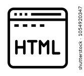 internet html  vector icon