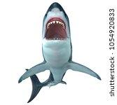 megalodon shark front profile... | Shutterstock . vector #1054920833