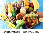 healthy lifestyle concept.... | Shutterstock . vector #1054932287