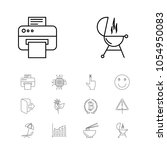 package icons set with noodle ...