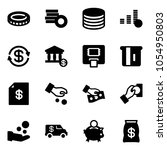 solid vector icon set   coin...   Shutterstock .eps vector #1054950803