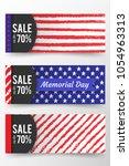 memorial day banner. remember... | Shutterstock .eps vector #1054963313
