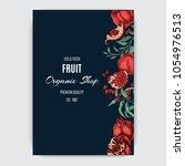 wedding template with fruit....   Shutterstock .eps vector #1054976513
