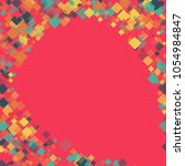rhombus backdrop minimal... | Shutterstock .eps vector #1054984847