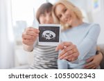 we are pregnant. selective... | Shutterstock . vector #1055002343