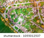 aerial view of a football pitch ... | Shutterstock . vector #1055012537