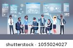 business people group wearing... | Shutterstock .eps vector #1055024027