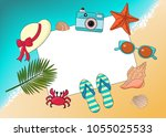 vector layout on the theme of... | Shutterstock .eps vector #1055025533