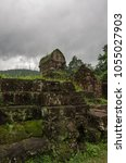 remains of hindu tower temples... | Shutterstock . vector #1055027903