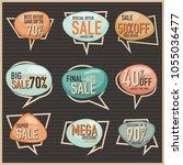 retro label collection vector... | Shutterstock .eps vector #1055036477