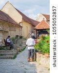 rasnov  transylvania  romania   ... | Shutterstock . vector #1055052857