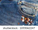 Denim Jeans Pocket Embellished...