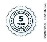 5 year guarantee | Shutterstock .eps vector #1055087363