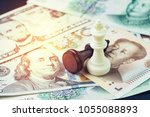 us and china finance tariff... | Shutterstock . vector #1055088893