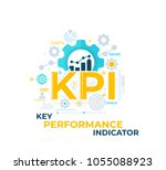 kpi  key performance indicator... | Shutterstock .eps vector #1055088923