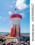 lighthouse in san cristobal... | Shutterstock . vector #1055090027