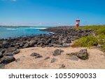 lighthouse in san cristobal... | Shutterstock . vector #1055090033