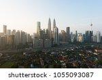 kuala lumpur city skyline and... | Shutterstock . vector #1055093087