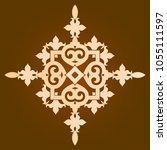 backgorund f round patterns | Shutterstock .eps vector #1055111597