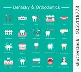 dentistry  orthodontics flat...   Shutterstock .eps vector #1055118773
