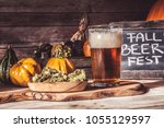 craft beer flight  halloween... | Shutterstock . vector #1055129597