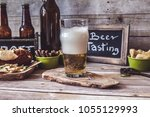 american craft beer | Shutterstock . vector #1055129993