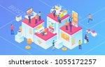 ultra hd resolution technology... | Shutterstock .eps vector #1055172257