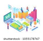 modern isometric smart... | Shutterstock .eps vector #1055178767