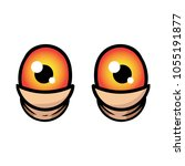 cartoon pair of bloodshot eyes   Shutterstock .eps vector #1055191877