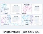 scientific templates square... | Shutterstock .eps vector #1055219423
