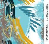 splash brush strokes watercolor ... | Shutterstock .eps vector #1055222087