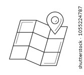 map locator with pointer vector ... | Shutterstock .eps vector #1055224787
