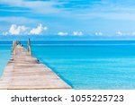contemplating the sea way to... | Shutterstock . vector #1055225723