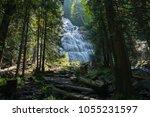 bridal waterfalls at bridal... | Shutterstock . vector #1055231597