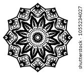 mandala style vector shapes.... | Shutterstock .eps vector #1055234027