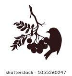 vector silhoutte. decorative... | Shutterstock .eps vector #1055260247