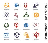 business people and symbols | Shutterstock .eps vector #1055264153