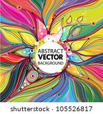 abstract vector background with ... | Shutterstock .eps vector #105526817